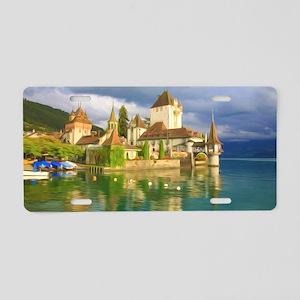 Beautiful castle Oberhofen  Aluminum License Plate