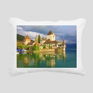 Beautiful castle Oberhof Rectangular Canvas Pillow