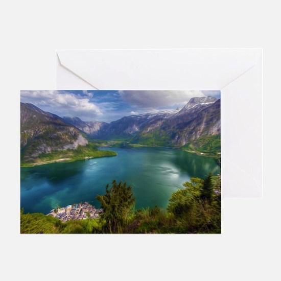 Beautiful lake view Greeting Card