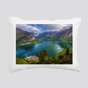 Beautiful lake view Rectangular Canvas Pillow