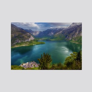 Beautiful lake view Rectangle Magnet