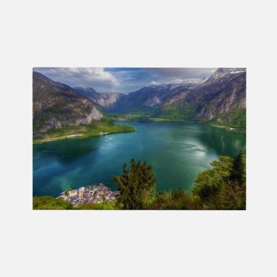 Beautiful lake view Rectangle Magnet