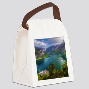 Beautiful lake view Canvas Lunch Bag