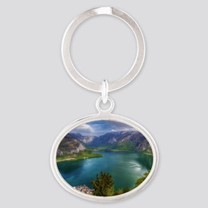 Beautiful lake view Oval Keychain