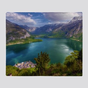 Beautiful lake view Throw Blanket