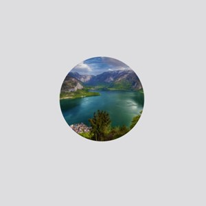 Beautiful lake view Mini Button