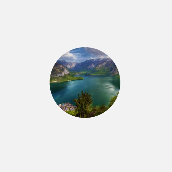 Beautiful lake view Mini Button