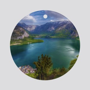 Beautiful lake view Round Ornament