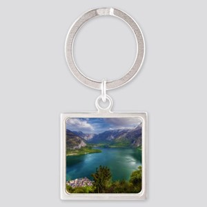 Beautiful lake view Square Keychain