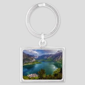 Beautiful lake view Landscape Keychain
