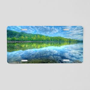 Beautiful landscape with tu Aluminum License Plate