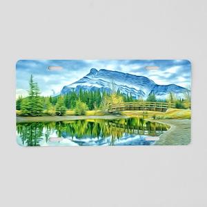 Beautiful Moraine Lake in B Aluminum License Plate