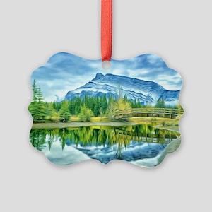 Beautiful Moraine Lake in Banff N Picture Ornament