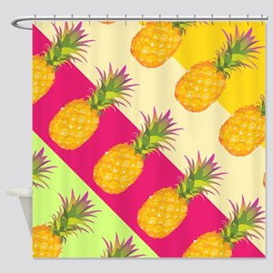 Tropical Pineapples, Shower Curtain