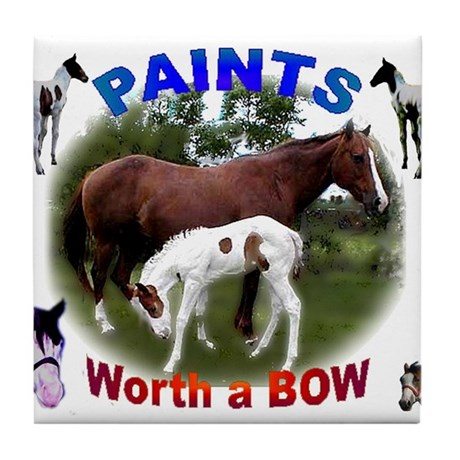 Paint HorsesTile Coaster
