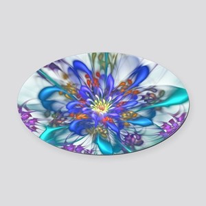 Thinking of Spring Oval Car Magnet