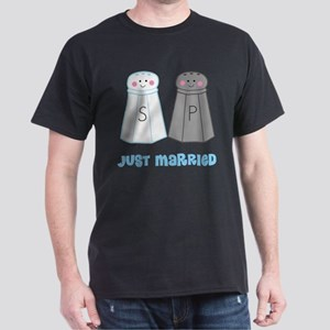 Just Married Salt Pepper Dark T-Shirt