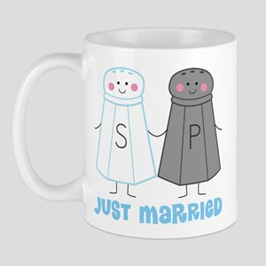 Just Married Salt Pepper Mug