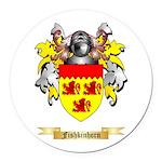 Fishkinhorn Round Car Magnet