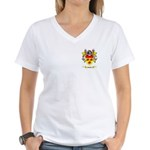 Fishke Women's V-Neck T-Shirt