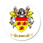 Fisher Round Car Magnet