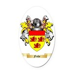 Fishe Oval Car Magnet