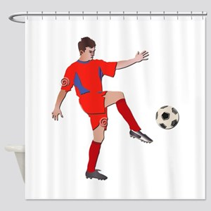 Soccer Player No Txt Shower Curtain