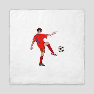 Soccer Player No Txt Queen Duvet