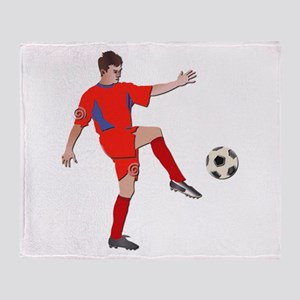 Soccer Player No Txt Throw Blanket