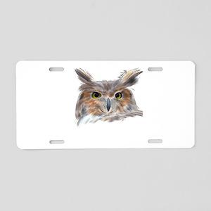 Eagle Owl Aluminum License Plate