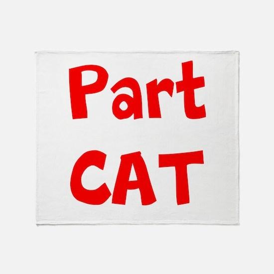 Part Cat Throw Blanket