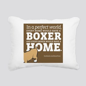 A Home for Every Boxer Rectangular Canvas Pillow