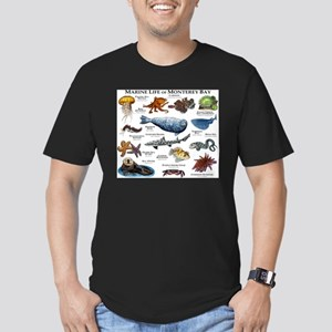 Marine Life of Montere Men's Fitted T-Shirt (dark)