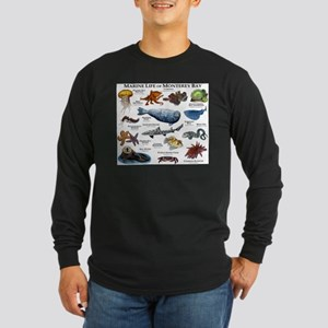 Marine Life of Monterey B Long Sleeve Dark T-Shirt