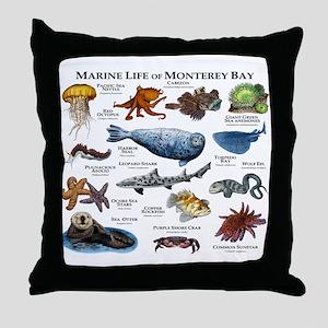 Marine Life of Monterey Bay Throw Pillow
