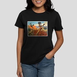Pheasant Bird (Front) Women's Dark T-Shirt