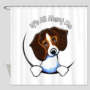 Tricolor Beagle IAAM Shower Curtain