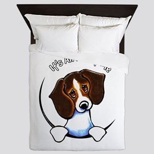 Tricolor Beagle IAAM Queen Duvet