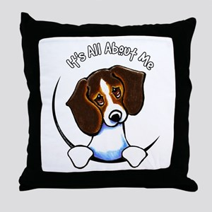 Tricolor Beagle IAAM Throw Pillow