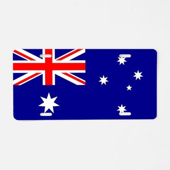 Australian Flag Aluminum License Plate