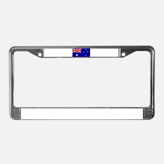 Australian Flag License Plate Frame