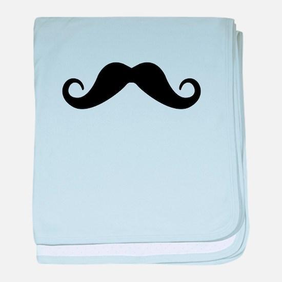 Moustache baby blanket