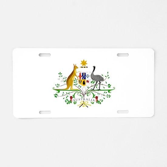 Australian Emblem Aluminum License Plate