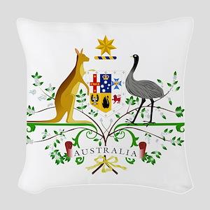 Australian Emblem Woven Throw Pillow