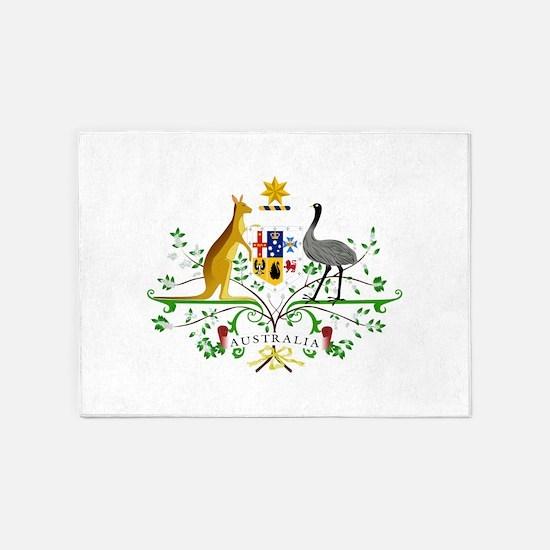 Australian Emblem 5'x7'Area Rug