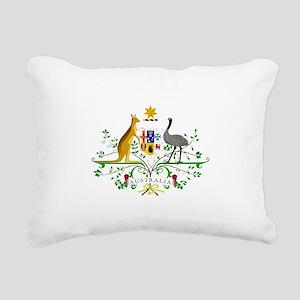 Australian Emblem Rectangular Canvas Pillow