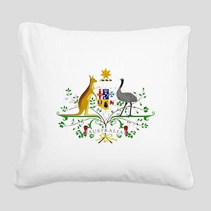 Australian Emblem Square Canvas Pillow