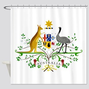 Australian Emblem Shower Curtain