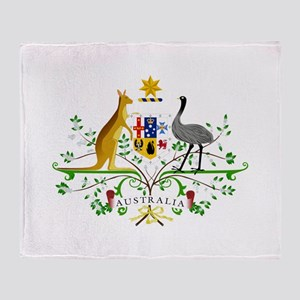 Australian Emblem Throw Blanket