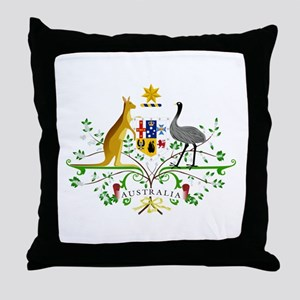 Australian Emblem Throw Pillow